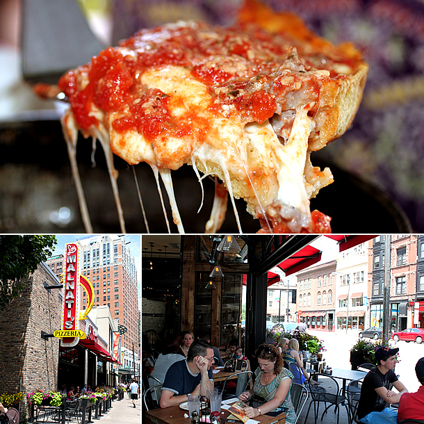 best deep dish pizza in Chicago - malnati's pizza
