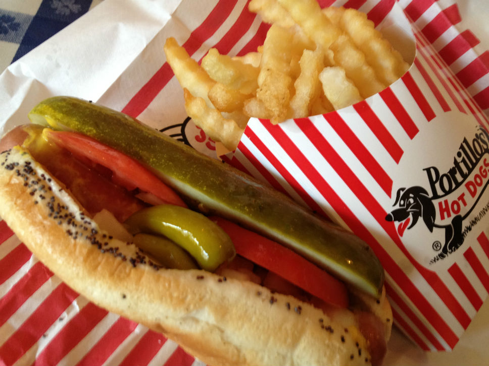 portillo's Chicago dog